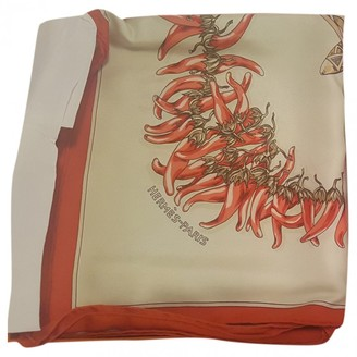 Hermes Carre 90 Orange Silk Silk handkerchief