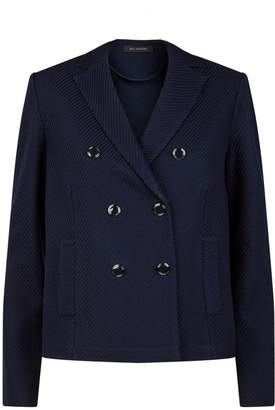 St. John Double-Breasted Twill Jacket