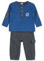 "Petit Lem Petit LemTM ""Passage to Alaska"" 2-Piece Top and Pant Set in Blue/Grey"
