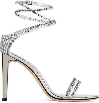 Giuseppe Zanotti Wrap-Around Crystal Sandals