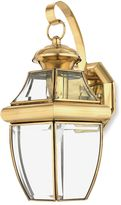 Quoizel Newbury Medium 1-Light Outdoor Wall Fixture in Polished Brass