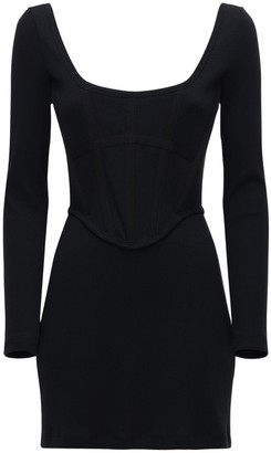 Dion Lee Ribbed Cotton Jersey Corset Mini Dress