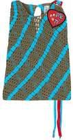 Peter Pilotto Appliquéd Crochet-Knit Top