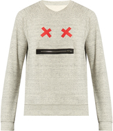 Marc Jacobs Zip Face crew-neck cotton sweatshirt