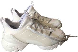 Christian Dior D Connect White Cloth Trainers