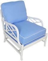 One Kings Lane Vintage Ficks Reed Blue & White Lounger