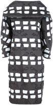 Vivienne Westwood geometric patten shift dress