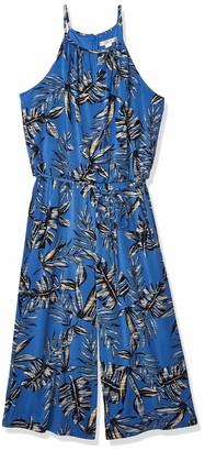 London Times Women's Tropic Print Jumpsuit