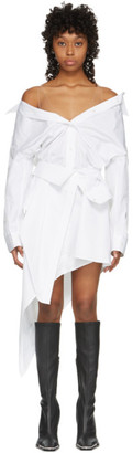 Alexander Wang White Asymmetric Deconstructed Shirt Dress