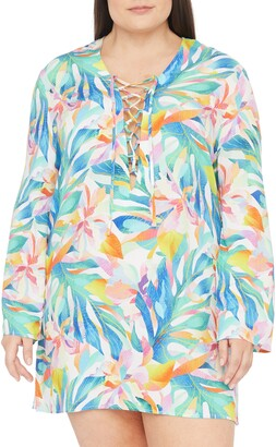 La Blanca Wild Tropic Floral Cover-Up Tunic