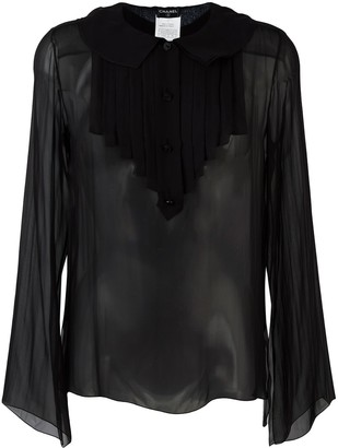 Chanel Pre Owned 2007 Ruffled Bib Shirt