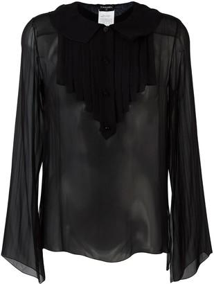 Chanel Pre Owned Ruffled Bib Shirt
