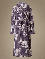 M&S Collection Floral Print Shimmer Dressing Gown