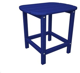 """Polywood South Beach Side Table Color: Pacific Blue, Table Size: 15"""" W x 19"""" L x 18"""" H"""