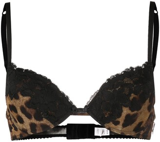 Dolce & Gabbana Leopard-Print Bra
