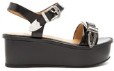 Toga Buckle leather flatform sandals
