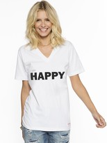 Peace Love World I am Happy V-Neck Tee