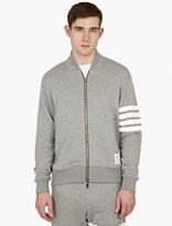 Thom Browne Cotton-jersey Striped Bomber Jacket
