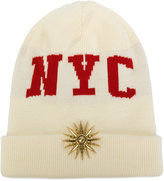 Fausto Puglisi NYC beanie hat - women - Virgin Wool - One Size