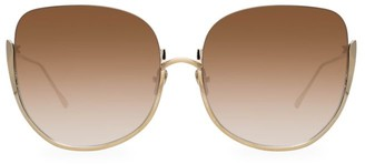 Linda Farrow 847 C6 Kennedy Oversized Sunglasses