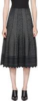 Alexander McQueen Black Jacquard Skirt