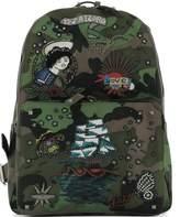 Valentino Green Fabric Backpack