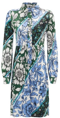 Erdem Tullio Modotti Wallpaper-print Shirt Dress - Green Print