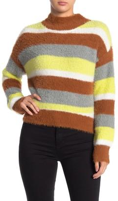 Lush Cozy Striped Knit Sweater