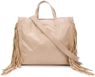 Twin-Set Tasseled Tote Bag