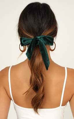 Showpo Depend On Me Scrunchie Set In Black And Emerald The Racewear