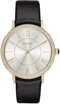 DKNY Women's Willoughby Black Leather Strap Watch 38mm NY2544