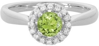 Diamond Select Cuts 14K 0.71 Ct. Tw. Diamond & Peridot Ring
