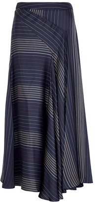 Palmer Harding Enata striped asymmetric midi skirt