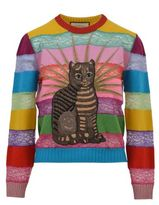 Gucci Embroidered Merino & Lace Knit