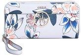 GUESS Kamryn Metallic Floral Zip-Around Wallet