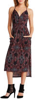 BCBGeneration Spaghetti Strap Printed V-Neck Sheath Dress