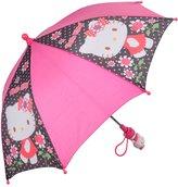 Hello Kitty Umbrella Black Flower New Gift Toys Kids Girls Licensed 028045