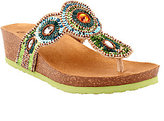 White Mountain As Is Beaded Thong Sandals - Blast