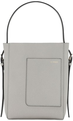 Valextra Sm Soft Grained Leather Tote Bag