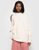 Tibi Cozy Sweater Cutout Pullover