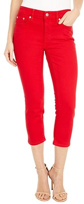 Lauren Ralph Lauren Petite Premier Straight Crop Jeans in Bold Red Wash (Bold Red Wash) Women's Jeans