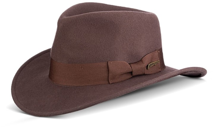 f8a697ff0 Men's Indiana Jones Wool Felt Outback Hat