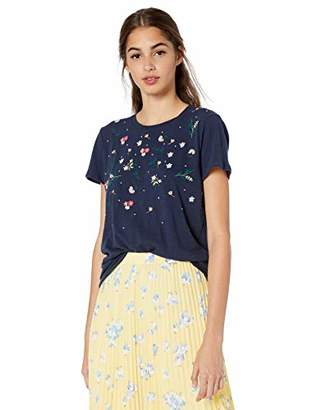 Lucky Brand Women's Multi-Color Embroidered Tee