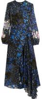 Preen by Thornton Bregazzi Aurora Devoré Silk-chiffon Dress - Cobalt blue