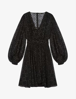 Maje Rasere openwork-motif muslin mini dress