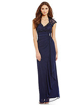 Marina Cap-Sleeve Lace-Top Gown