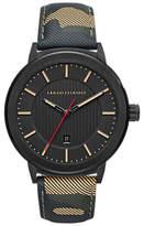 Armani Exchange Ax1460 Date Leather Strap Watch, Multi/black