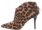 Brian Atwood Ponyhair Pointed-Toe Booties