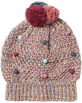 Fat Face Children's Mini Bobble Beanie Hat, Red