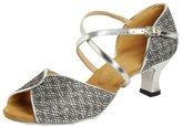 Honeystore Women's Glitter Peep Toe Wedding Dance Shoes